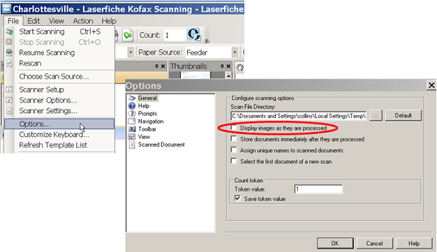 Scanning Best Practices Settings