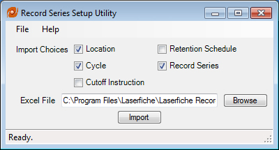 Records Setup Management Import