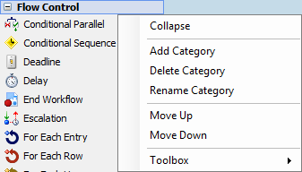 Flow Control Category Name