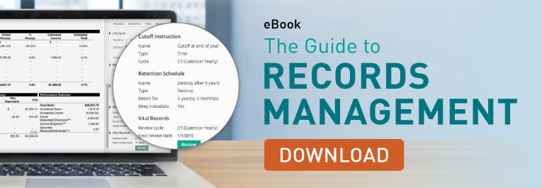 electronic records management guide banner