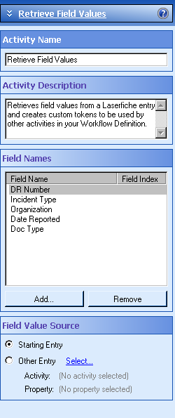 Retrieve Field Values