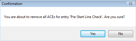 Remove ACE Confirmation