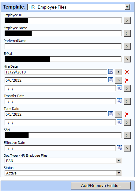 Hr-Employee Files<br />