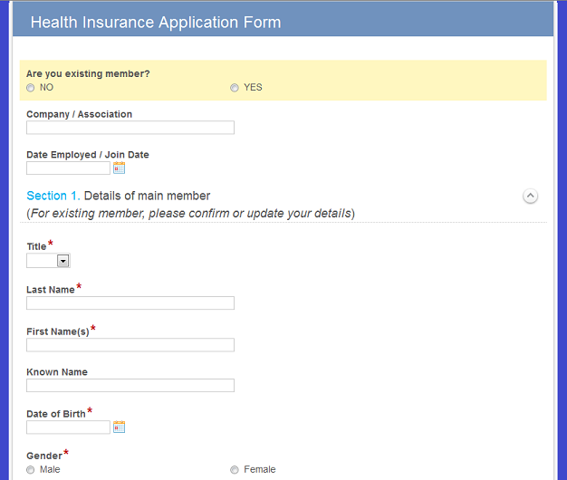 Insurance Form the Process