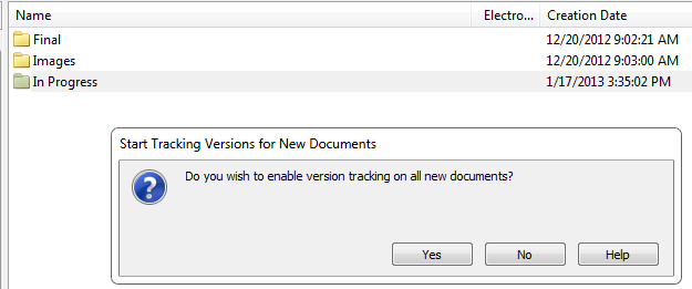 Versions Setting Up Versioning