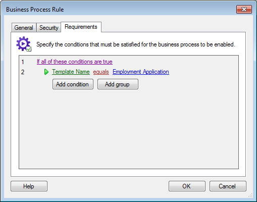 Business Process Rule Requirements