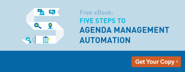 5 Steps to Agenda Management Automation