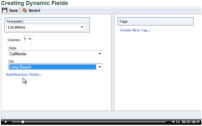 Click the image to view a video of dynamic fields in action.
