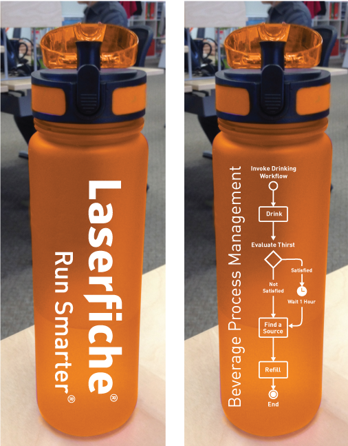 Laserfiche Workflow water bottle