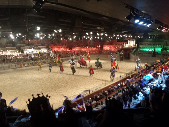 Squires and knights take to the arena at Medieval Times.
