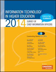 Information Technology in Higher Ed CIO Survey | Laserfiche