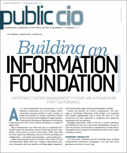 Public CIO: Building an Information Foundation | Laserfiche