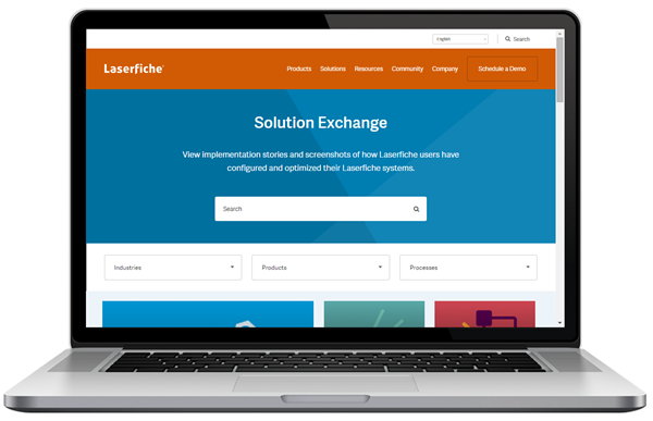 Laserfiche Solution Exchange Portal