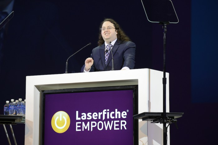 Laserfiche Technical Product Manager Justin Pava discusses the powerful capabilities of Laserfiche Connector at the Empower 2016 Day 1 General Session.