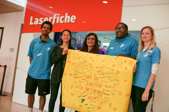 The best part of giving to our local YMCA is the amazing expression of creativity and gratitude from our Long Beach youth! Thank you again for the lovely thank you banner.