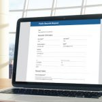 Laserfiche forms powering an electronic public records request form